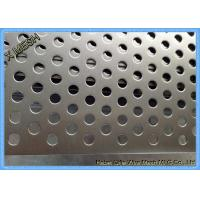 China Powder Coated Perforated Metal Sheet Staggered Round Punched Customized Length wholesale