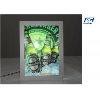 China A0 High Lighting Crystal Slim Light Box Magnetic Acrylic Sheet With Cover Panel wholesale