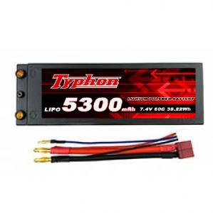 TYPHON POWER 5300mAh 7.4V 60C 2S1P HardCase Lipo Battery