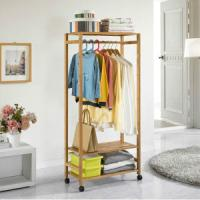China China Bamboo Coat Rack Clothing Rack Storage for Living Room, Dining Room, Bedding Room, wholesale