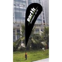 Quality Sublimation Printing Custom Teardrop Flag Banner With ABS Ground Base 110g for sale