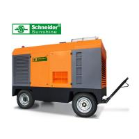 China High Efficiency Portable Screw Air Compressor , 46KW Mobile Diesel Air Compressor wholesale