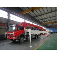 China LNG Engine 37m 8x4 FAW 380HP Concrete Pump Trucks with RHD Type wholesale