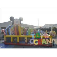 China Colored Bouncy Castle Playground For Kids / Mickey Mouse Inflatable Bounce House wholesale