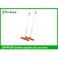 China JOYPLUS Home Rubber Sweeper Broom , Rubber Push Broom With Handle 120cm wholesale