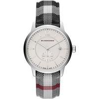 Buy cheap Wholesale Burberry Silver Dial Stainless Steel Textile Quartz Men's Watch BU10002 from wholesalers