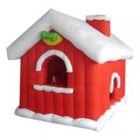 China Inflatable christmas / halloween / inflatable festival decoration / inflatable Santa house wholesale