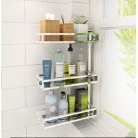 China 2~4-Tier Rotatable Wall Mounted Bathroom Shelves Bath Racks For Bathroom Counter Top wholesale