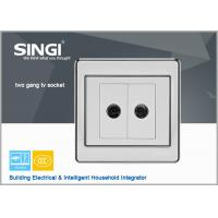 Buy cheap 2 gang TV socket Hot sell one gang wall switch and socket for Brazil market from wholesalers