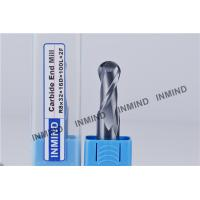 Wholesale HRC55 TiSiN Coating Ball Nose End Mill High Precision 0.5 UM grain size , AOL 100 mm from china suppliers