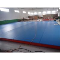 China Water Park Gymnastic Pool Mat , Inflatable Air Mat For Tumbling Fire Retardant wholesale