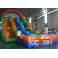 China Children Park Colorful Large Custom Inflatable Water Slide , Blower 110~230V wholesale