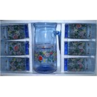 China Blue Drinking Glasses Drinkware Sets for Hotel, Home, Garden wholesale