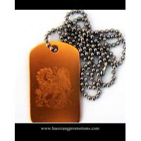 Quality custom shape stainless steel blank dog tag with holes stamped punch out for sale