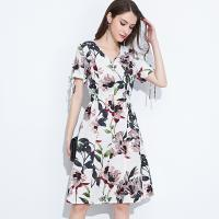 China 89D18008 Large Size Summer Fresh And Fashionable Cotton And linen Dress wholesale