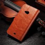 China PU Handmade Nokia Lumia Leather Case Flip Cover For Nokia 535 / 540 Anti - Slip wholesale
