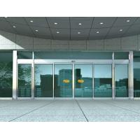 China Aluminum Sliding Automatic Glass Door With 10mm Clear Tempered Glass wholesale