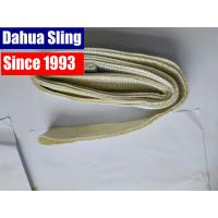 China White Polyester Crane Endless Lifting Slings , 2 Ton Industria Flat Webbing Sling on sale