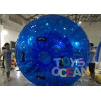 Quality Diameter 3m Blue Inflatable Bumper Auqa Zorb Walking Ball , Inflatable Zorb Ball for sale