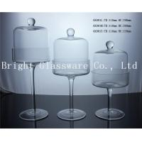 China handmade blown glass dome glass cake cover with stand wholesale