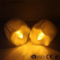 China Yellow Flickering Timing Flameless LED Tea Light Candles with Timer wholesale