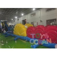 China Inflatable Shark Water Obstacle Inflatable Water Game For Poor / Park 15.6X2X1.67M wholesale