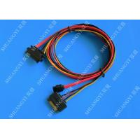 China Female 22-pin to Male 22-pin SATA Data & Power Combo Data Extension Cable wholesale