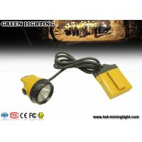 China 520g yellow KL12LM 25000lux Mining corded miners Cap lamp 4 levels lighting with 12 ah battery wholesale