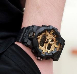 Quality SBAO New Wholesale Dual Time Shock Resist Chronograph Alarm TPU Band 3ATM for sale