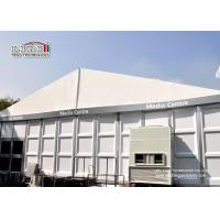 China White Color Wind Resistant Outdoor Exhibition Tents With ABS Hard Wall For 2000 Person wholesale