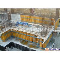 China High Efficiency Wall Formwork Systems , Core Wall Formwork With Push Pull Props wholesale