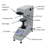 China Ceramics Testing Optical Micro Hardness Tester With 100X / 200X Magnification wholesale