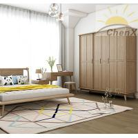 China Coffee Color Solid Wood Wardrobe Waterproof Stylish Free Standing Closet wholesale