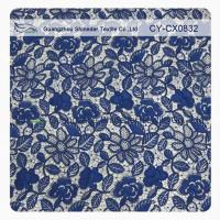 China Stretchy Polyester Floral Navy Blue Lace Fabric Trimming Custom Printed wholesale