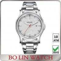 China Mineral Glass Stainless Steel Bracelet Watch , Leather Strap Quartz Movement Watch wholesale