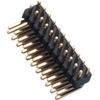 China 1.27 Mm Pin Header Right Angle high temperature plastic DIP H=1.5  PA9T black UL94V-0 wholesale