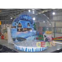 China Transparent Giant Indoor Inflatable Snow Globe Ball With Tunnel For Display wholesale