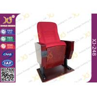 China Back Rest Table Auditorium Theater Seating With Folding Cup Holder On Legs wholesale