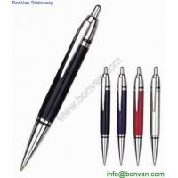 China Classic retractable metal click pen for gifts,good quality metal push ballpoint pen wholesale
