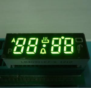 China Black Face Numeric LED Display , 7 Segment 4 Digit Display With 120C Operating Temperature wholesale