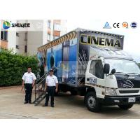 China Mobile Truck Model 7D Movie Theater Of Luxury Leather Motion Chairs , Remove Anywhere wholesale