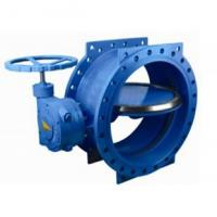 China 125 lbs / 200psi Double Eccentric / flange Butterfly Valve with HandWheel wholesale
