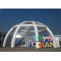 China Outdoor Giant Clear PVC Inflatable Air Dome Tent Customized Size Fireproof wholesale