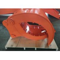 China Quick Hitch Joint Excavator Grab Attachment , Backhoe Grapple Bucket High Performance wholesale