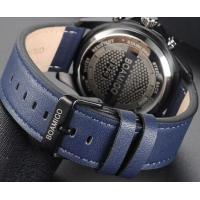 Quality Wholesale BOAMIGO Fashion Men Cretive Dual Display Leather Strap Chronograph 3 ATM Charm Design Sport Watches F540 for sale