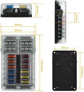 China 12 Volt Automotive Fuse Box Holder Waterproof with Negative auto inline fuse holder wholesale