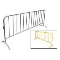 China Crowd Control Barrier Yellow powder-coated for superior corrosion resistance on sale