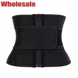 China Black 3XS Short Torso Waist Trainer Latex Tummy Trimmer With Zipper wholesale