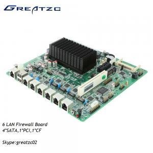 China Atom 6 LAN Firewall Motherboard D2550 ATOM , Fanless Firewall Board 6 Ethernets wholesale