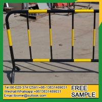 China Carmila Powder coating temporary fence crowded control barrier wholesale